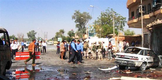 Suicide car blast kills at lea...